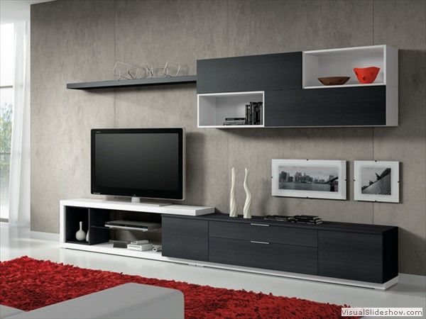 Muebles para tv modernos the image kid for Muebles modulares modernos para tv